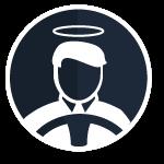 Uno de nuestros ángeles confirma el servicio y se dirige hasta la ubicación acordada para recogerte.
